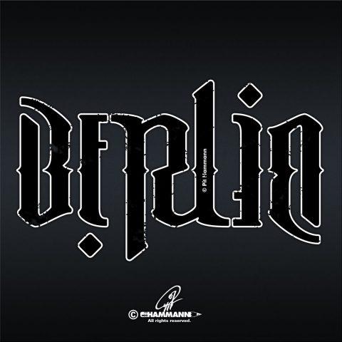 """Ambigramm """"Berlin"""" – handgezeichnete Schriftzüge, Lettering, Ambigramme, Typographie, Typography, Kalligraphie, Calligraphy, Sprüche, Weisheiten, Wortspiele, Zitate"""