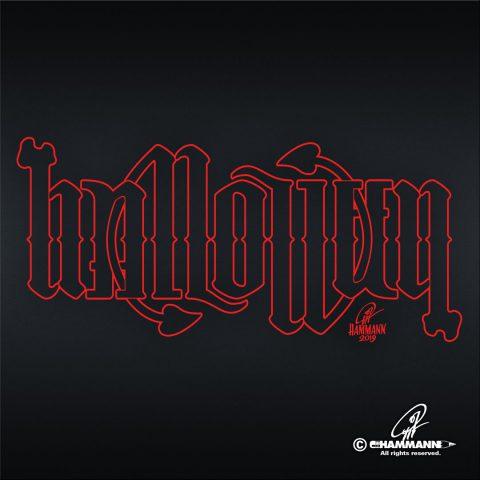 """Ambigramm """"Halloween"""""""