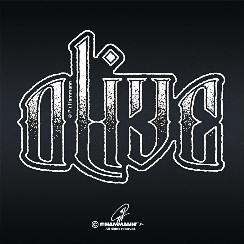 Ambigramm Handlettering dead / alive