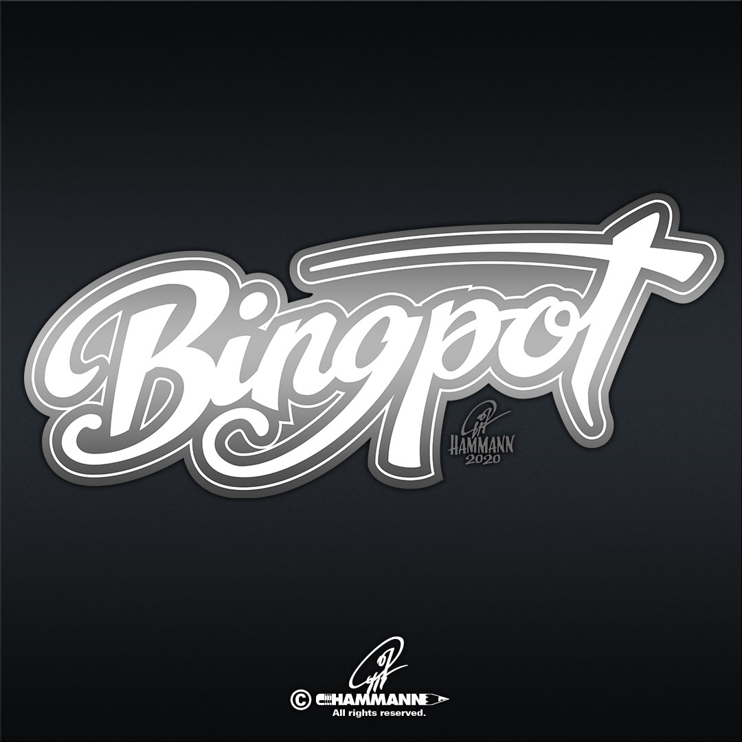 """Handlettering """"Bingpot"""" © Pit Hammann 