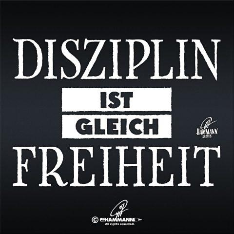"""Handlettering """"Disziplin ist gleich Freiheit"""""""