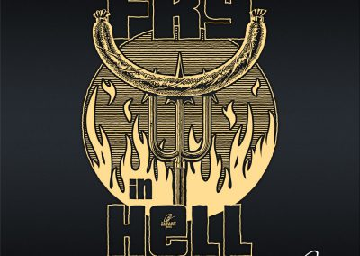 Handlettering Fry in hell!