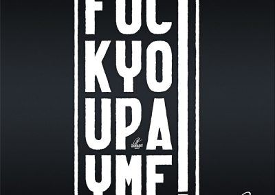Handlettering Fuck you! Pay me!