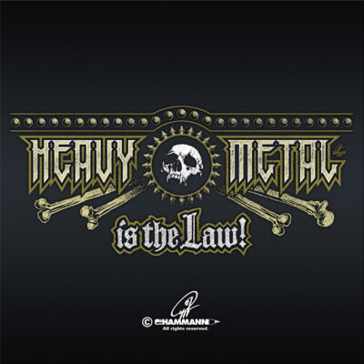 "Handlettering ""Heavy Metal is the Law!"""