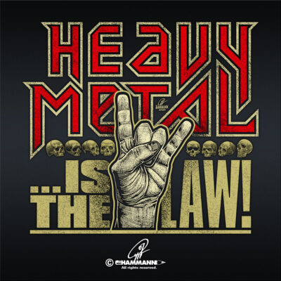 "Handlettering ""Heavy Metal … is the LAW!"" 02"