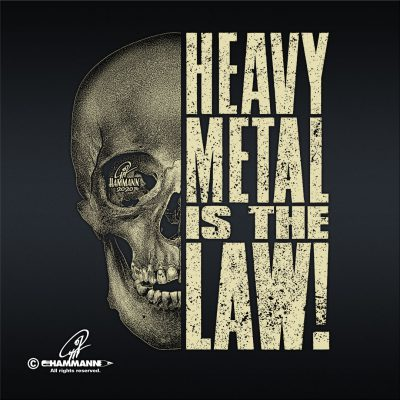 "Handlettering ""Heavy Metal is the Law!"" 03"
