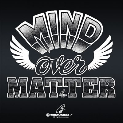 "Handlettering ""Mind over matter"""