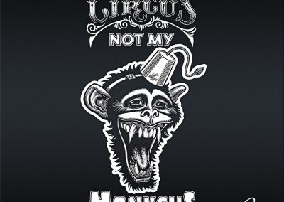 Handlettering Not my circus. Not my monkeys.