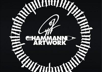 Pit Hammann Signatur + Kreisambigramm