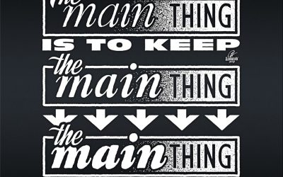 The main thing is to keep …