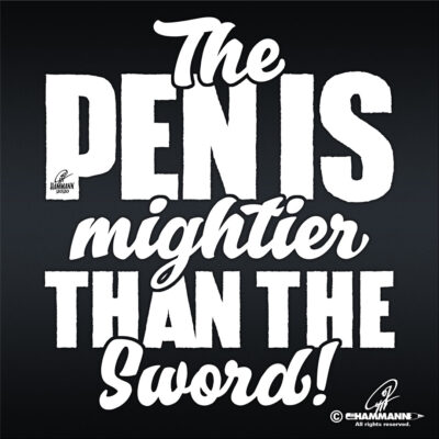 "Handlettering ""The Pen is mightier than the Sword"""