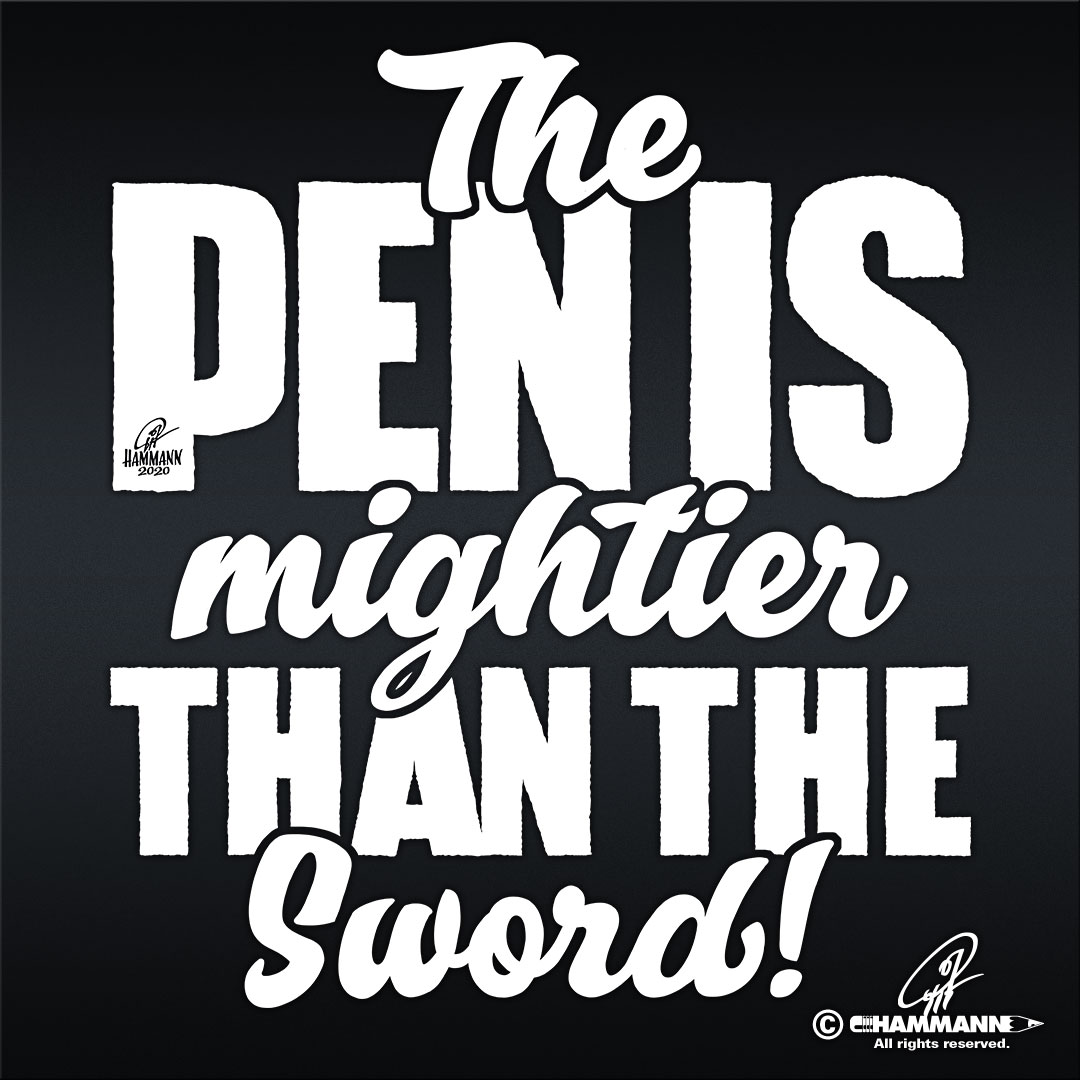 "Handlettering ""The Pen is mightier than the Sword"" © Pit Hammann 