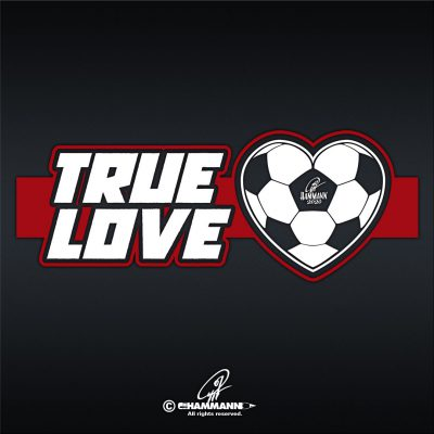 """True Love"" Fußball-Herz, Nr.02 rot © Pit Hammann 
