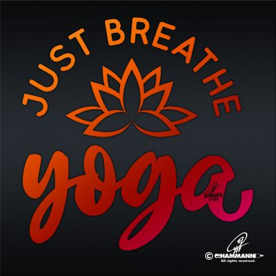 "Lettering ""Just breathe – YOGA"" © Pit Hammann 