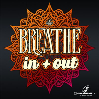 "Lettering ""YOGA – Breathe in + out"" © Pit Hammann 