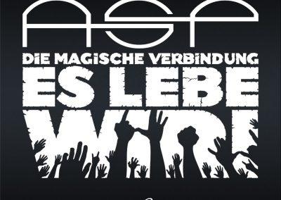 "Handlettering Auftrag – Band: ASP | ""Es lebe wir"" © Pit Hammann | all rights reserved"