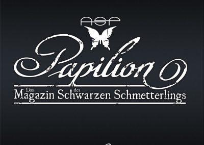 Handlettering Auftrag – Band: ASP | Bandmagazin Papilion © Pit Hammann | all rights reserved