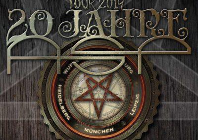 Handlettering Auftrag – Band: ASP | Pentagrammophon-Tour 20 Jahre ASP © Pit Hammann | all rights reserved