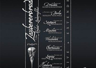 "Handlettering Auftrag – Band: ASP | Tour: ""Zaubererbruder"" © Pit Hammann | all rights reserved"