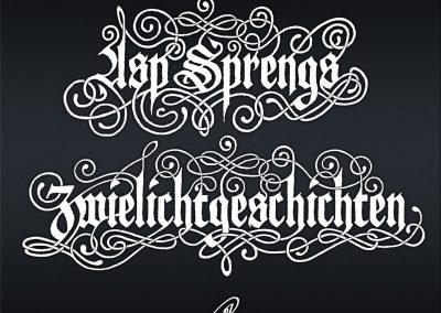 Handlettering Auftrag – Band: ASP | Buchreihe Zwielichtgeschichten © Pit Hammann | all rights reserved