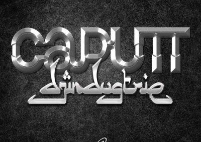 Handlettering Auftrag – Band: CAPUTT | Album: Djindustrie © Pit Hammann | all rights reserved