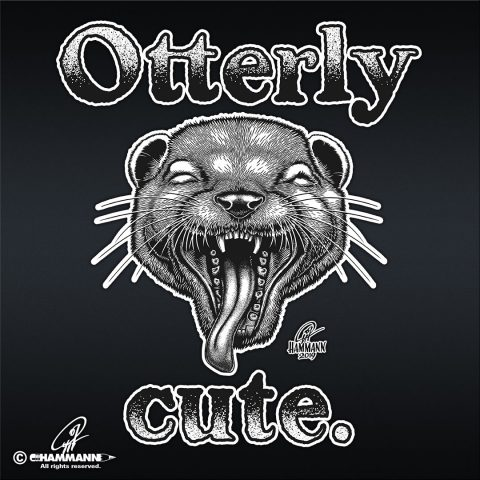 "Handlettering ""Otterly cute"""