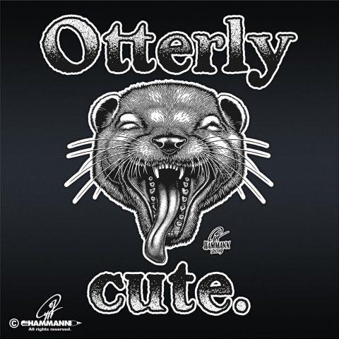 """Handlettering """"Otterly cute"""" – handgezeichnete Schriftzüge, Lettering, Ambigramme, Typographie, Typography, Kalligraphie, Calligraphy, Sprüche, Weisheiten, Wortspiele, Zitate"""